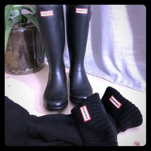 Original Hunter boots + hunter insert socks